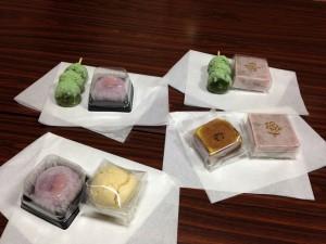 2015年3月14日禊カフェ狭野神社社務所でお茶会した時の中村屋の和菓子