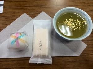 2015年5月30日越木岩神社でのお茶会 金沢和菓子